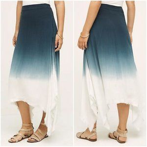 NWT Anthropologie Dipped Horizon Maxi Skirt